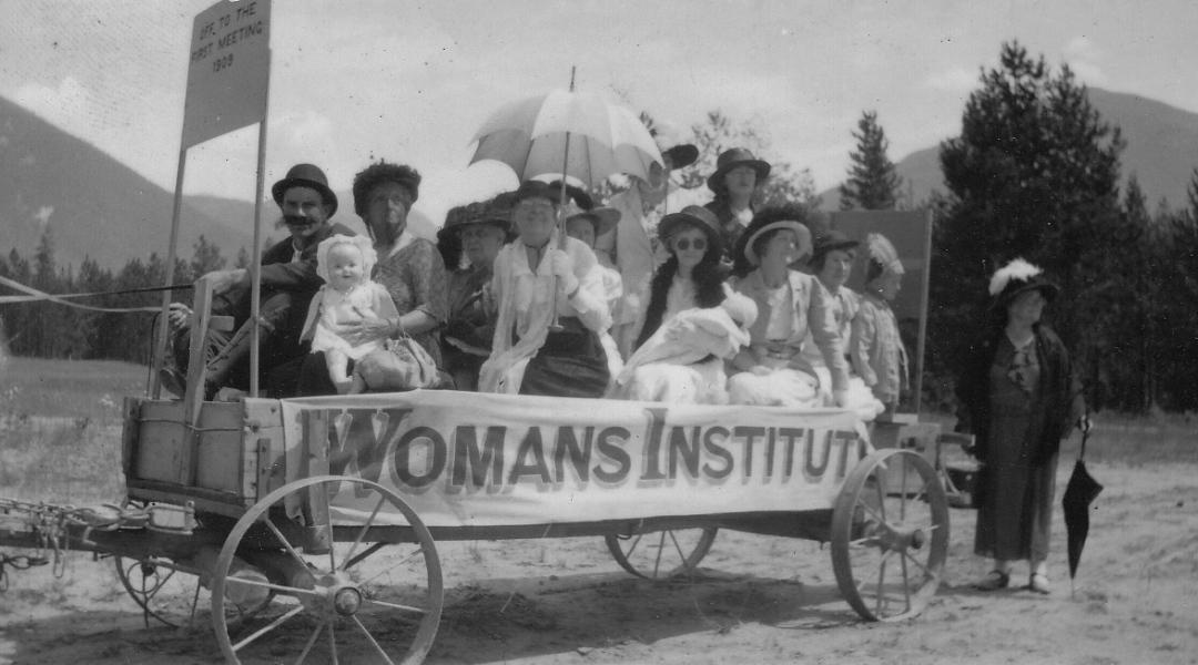 Women's Institute July 1st Float 1938, Nakusp Museum